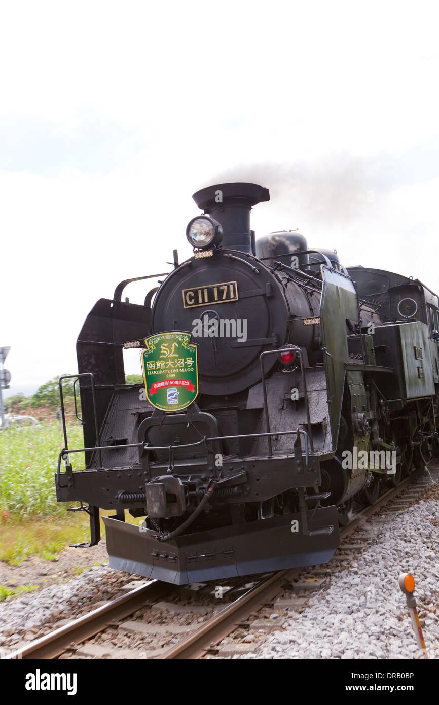 Locomotive train in Hokkaido, Japan - Stock Image