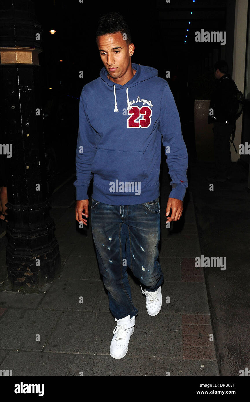Scott Sinclair out and about London, England - 05.07.12 - Stock Image