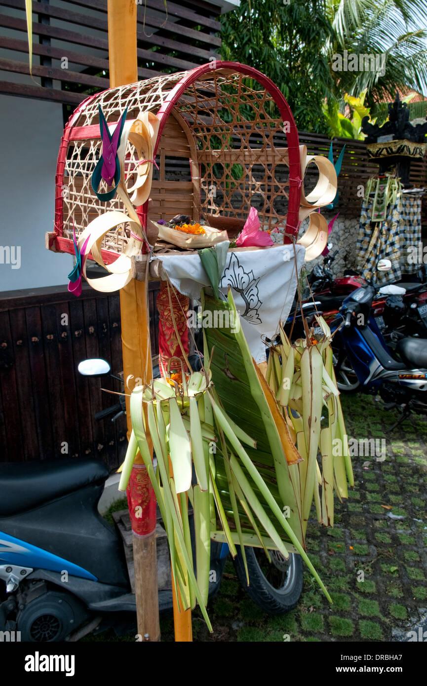 Hinduism offerings, Bali, Indonesia - Stock Image