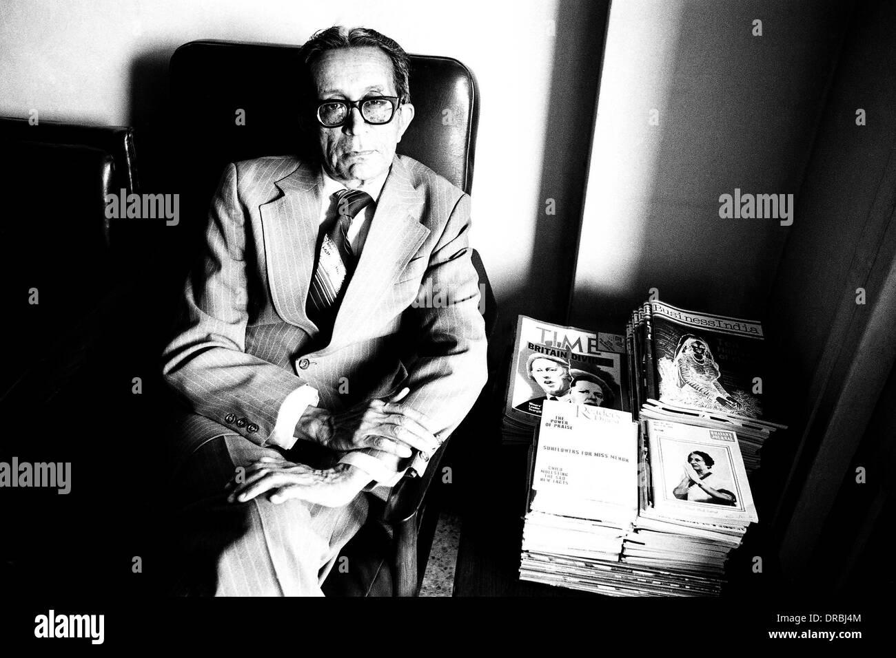 PSI President Dilhar Bhacheh, Mumbai, Maharashtra, India, 1984 - Stock Image