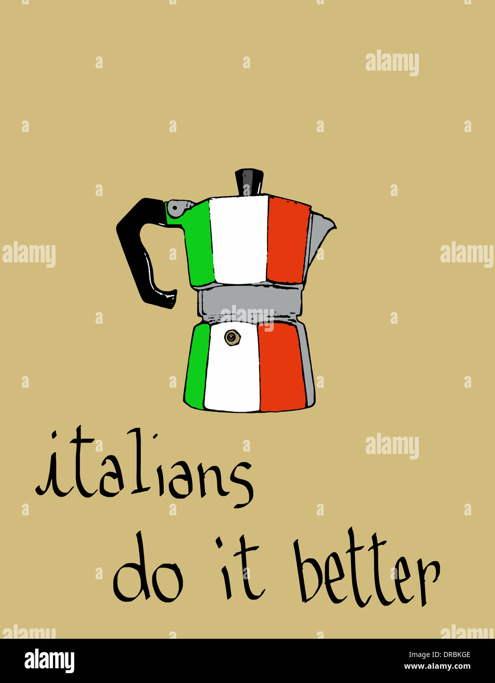Italian Restaurant Logo With Flag: Italians Do It Better Stock Photo: 66025022