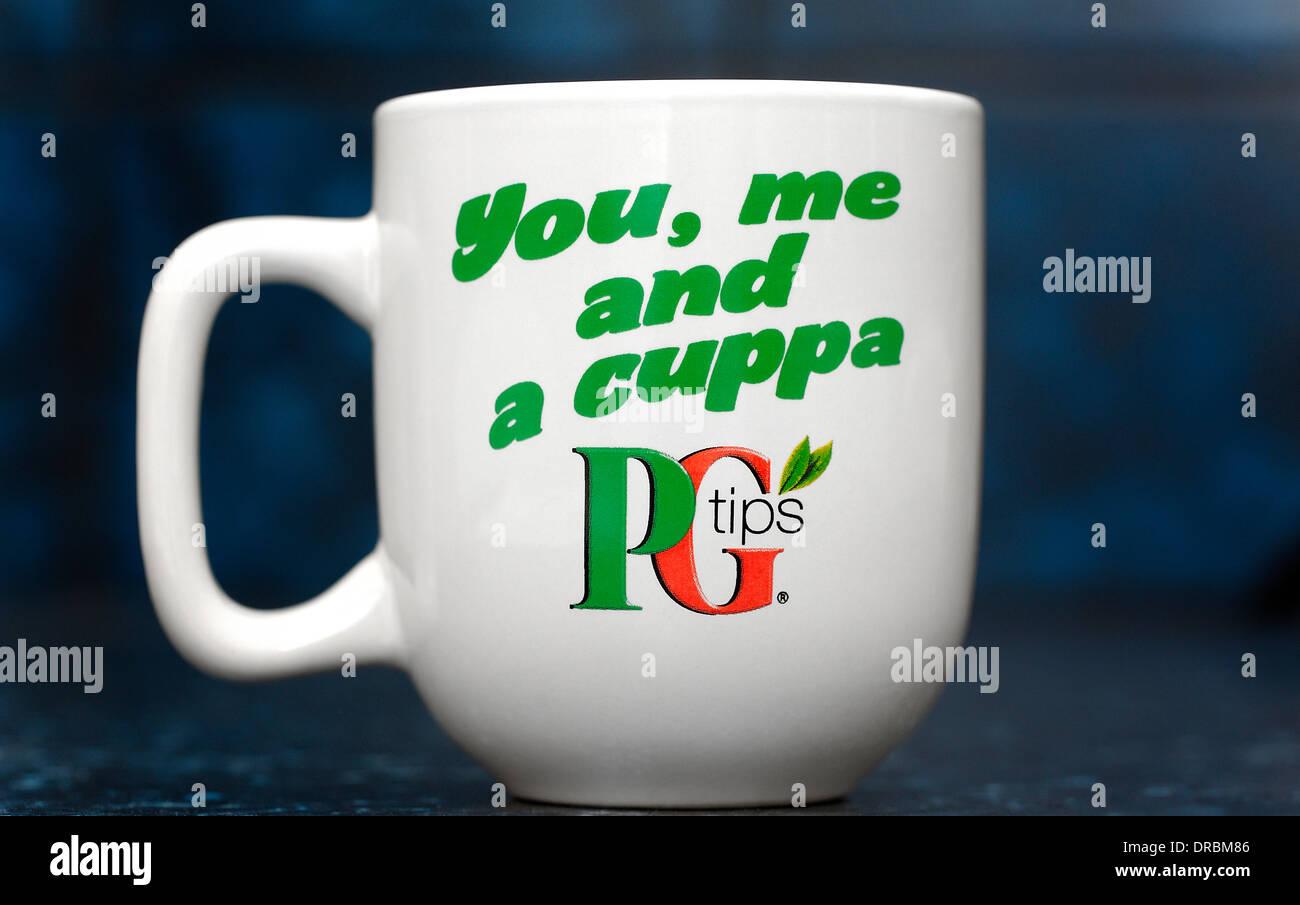 PG tips tea brand logo on a mug - Stock Image
