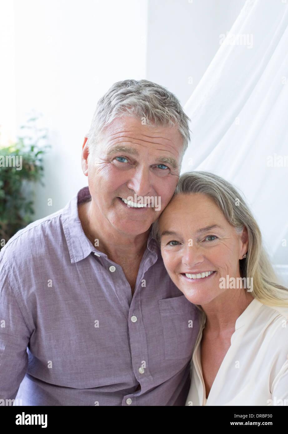 Senior couple smiling - Stock Image