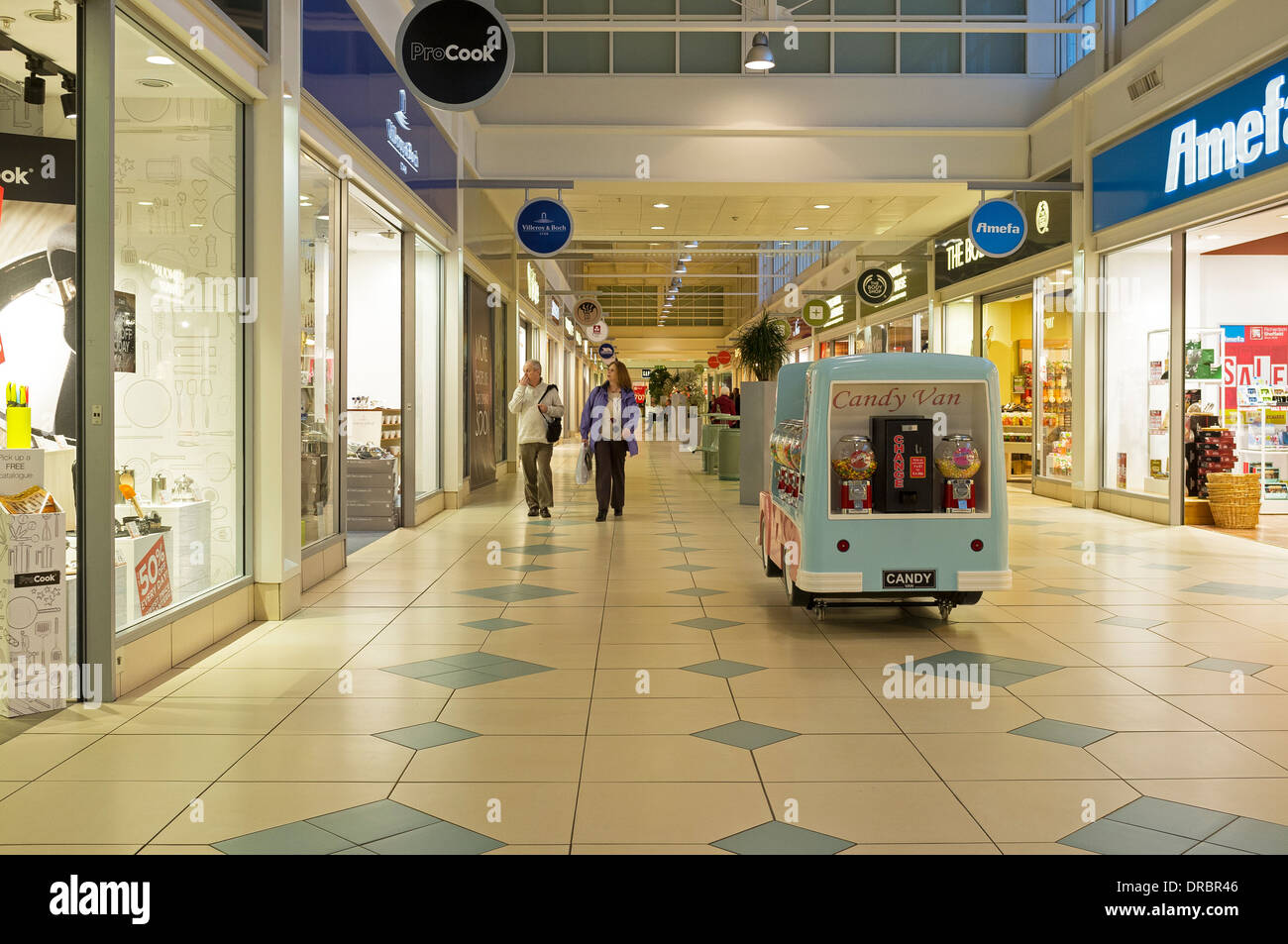 4ad5632c8fc Interior walkway between shops at the Livingston Designer shopping mall,  near Edinburgh, Scotland,