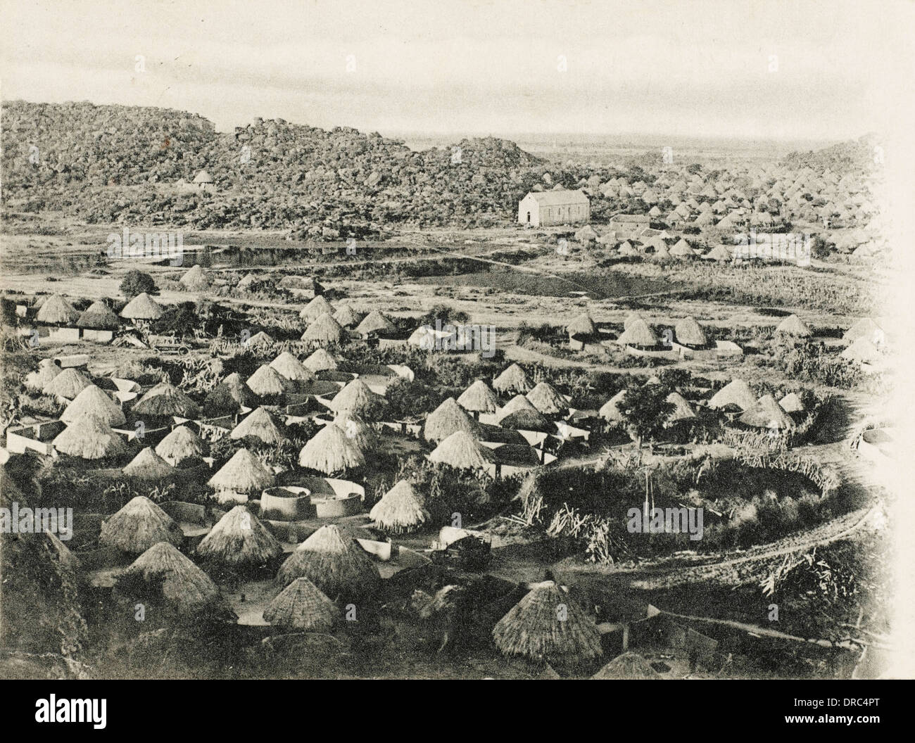 South Africa - Kraal Village in Northern Transvaal - Stock Image