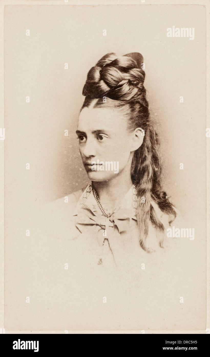 Fantastic hairdo - late 19th century - Stock Image