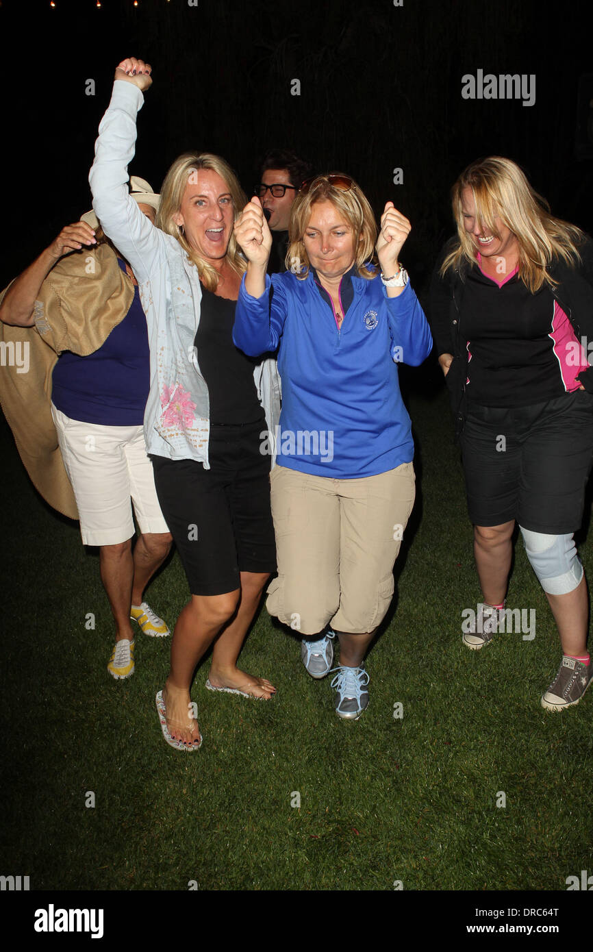 Women wining team 15th Annual Women In Film Celebrity Golf Classic held at the Country Club - Inside Malibu, California - 15.07.12 - Stock Image