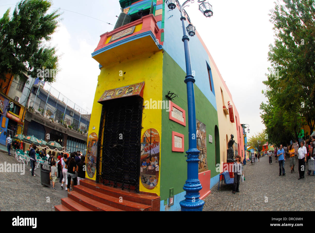 Multi colored building in Buenos Aires, Argentina - Stock Image