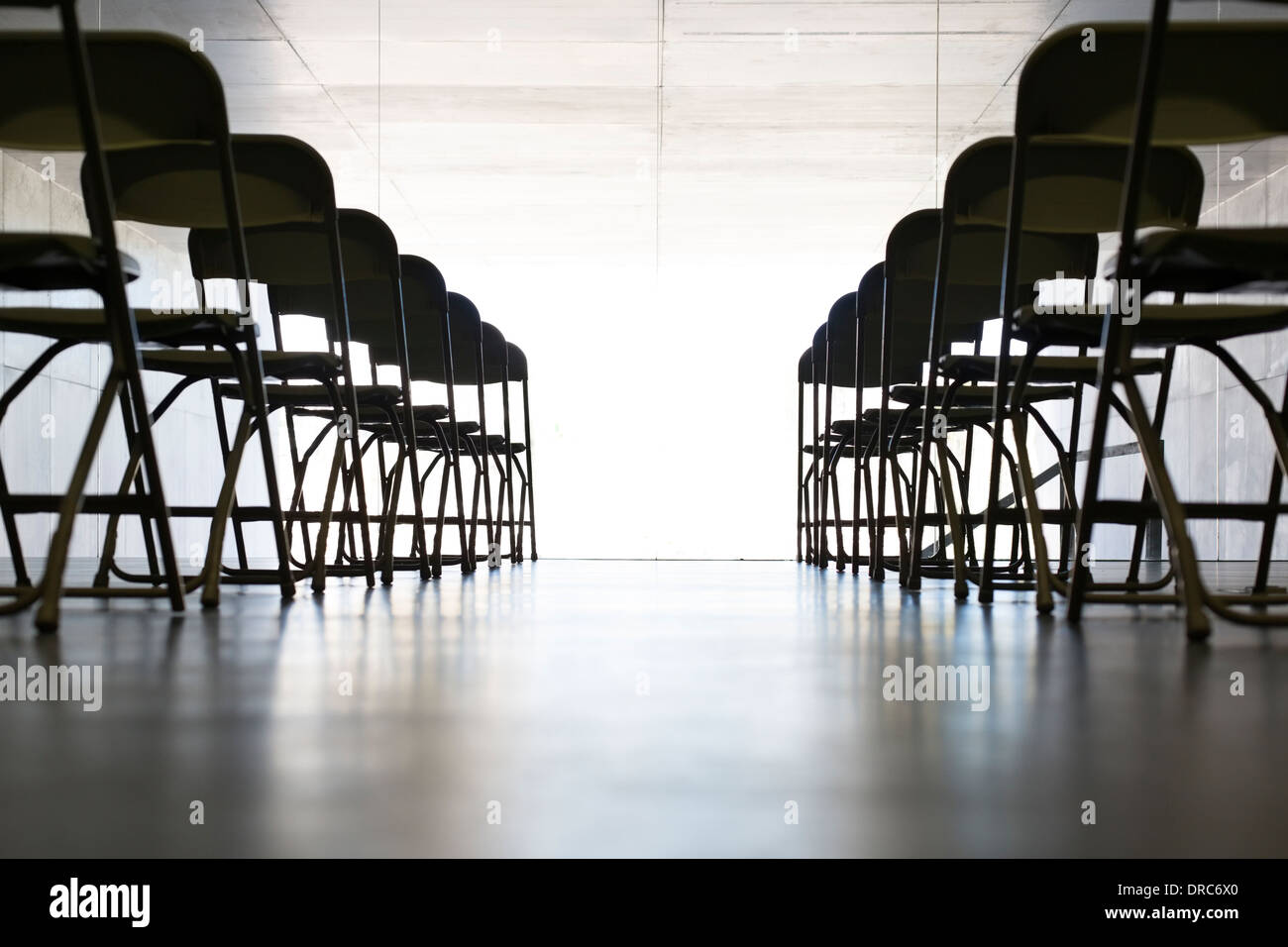Empty chairs in office - Stock Image
