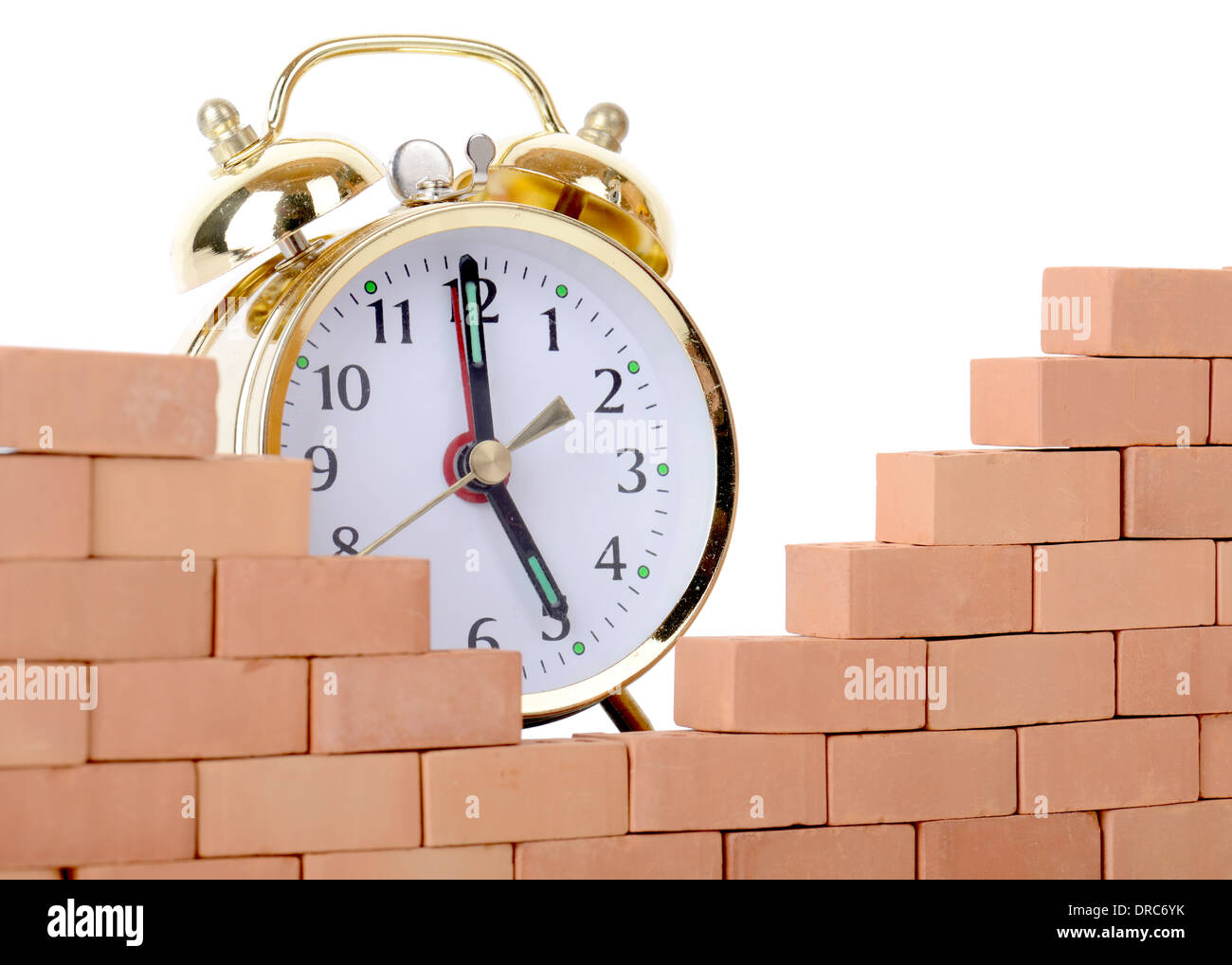 concept breaking down the walls of time - Stock Image