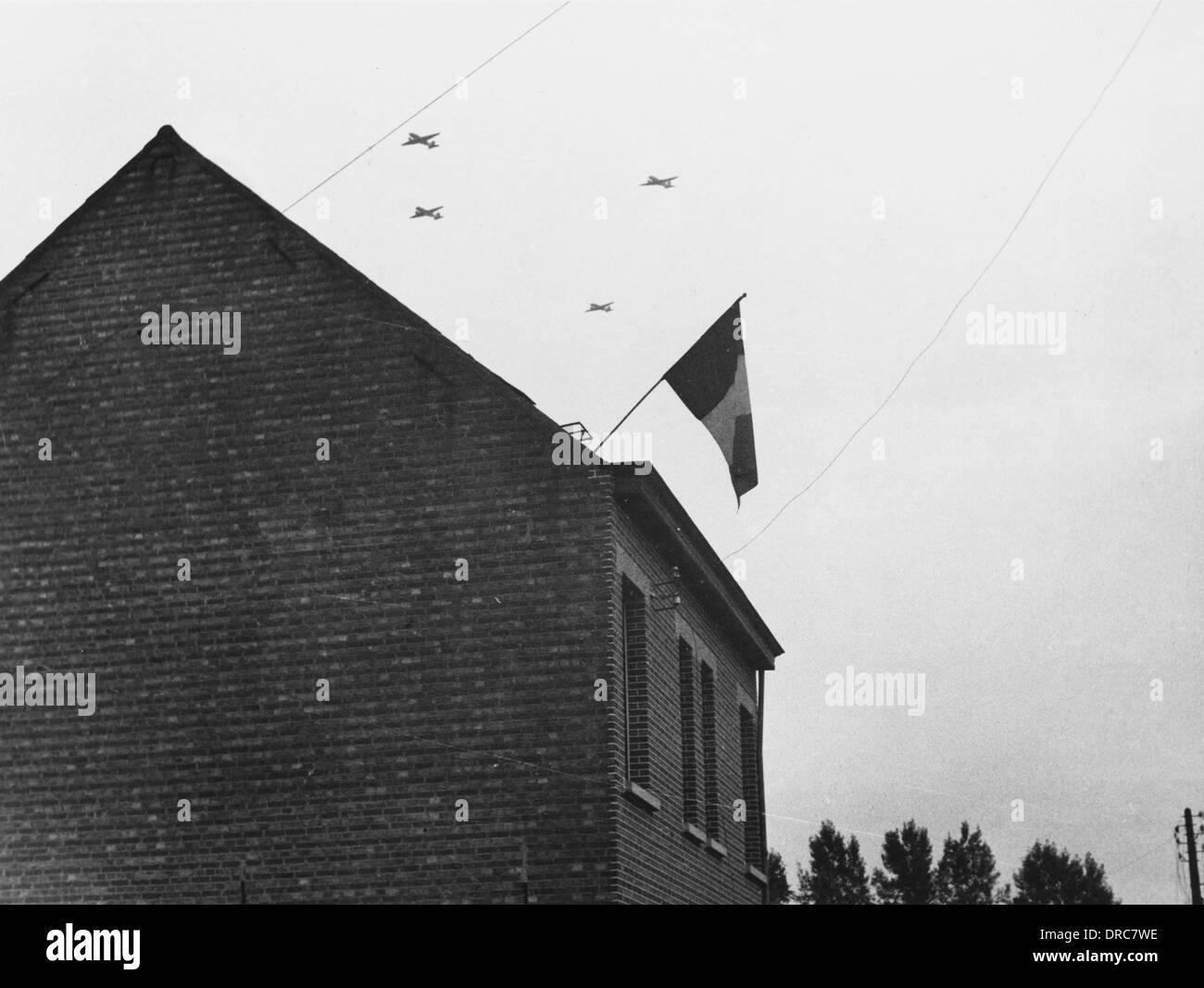 British planes WWII - Stock Image