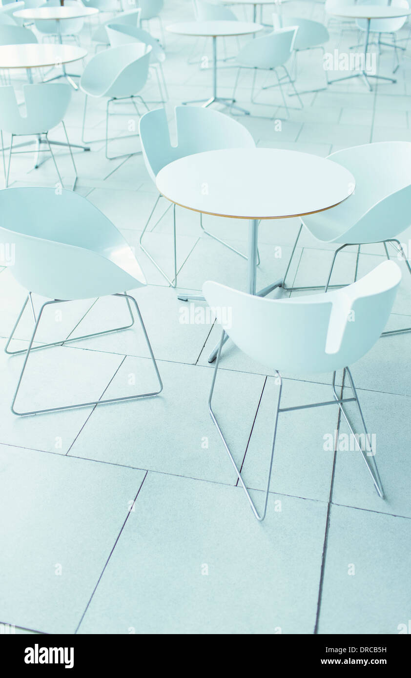 Empty chairs and tables - Stock Image