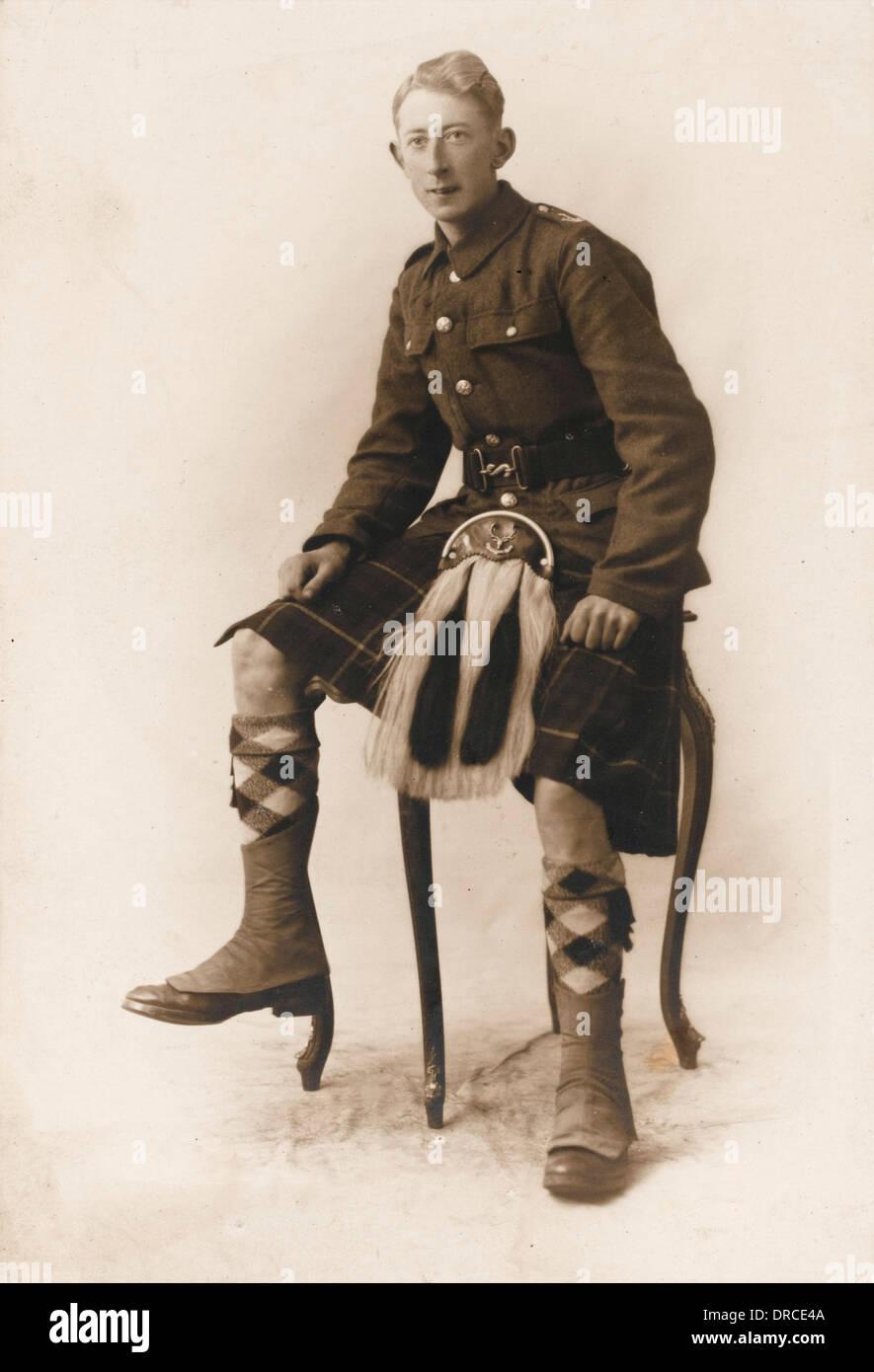 A Seaforth Highlander - World War One - Stock Image