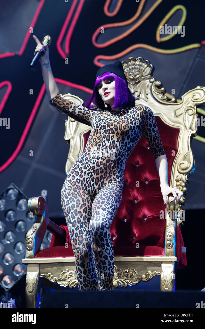 Jessie J Live at The Big Chill - Stock Image