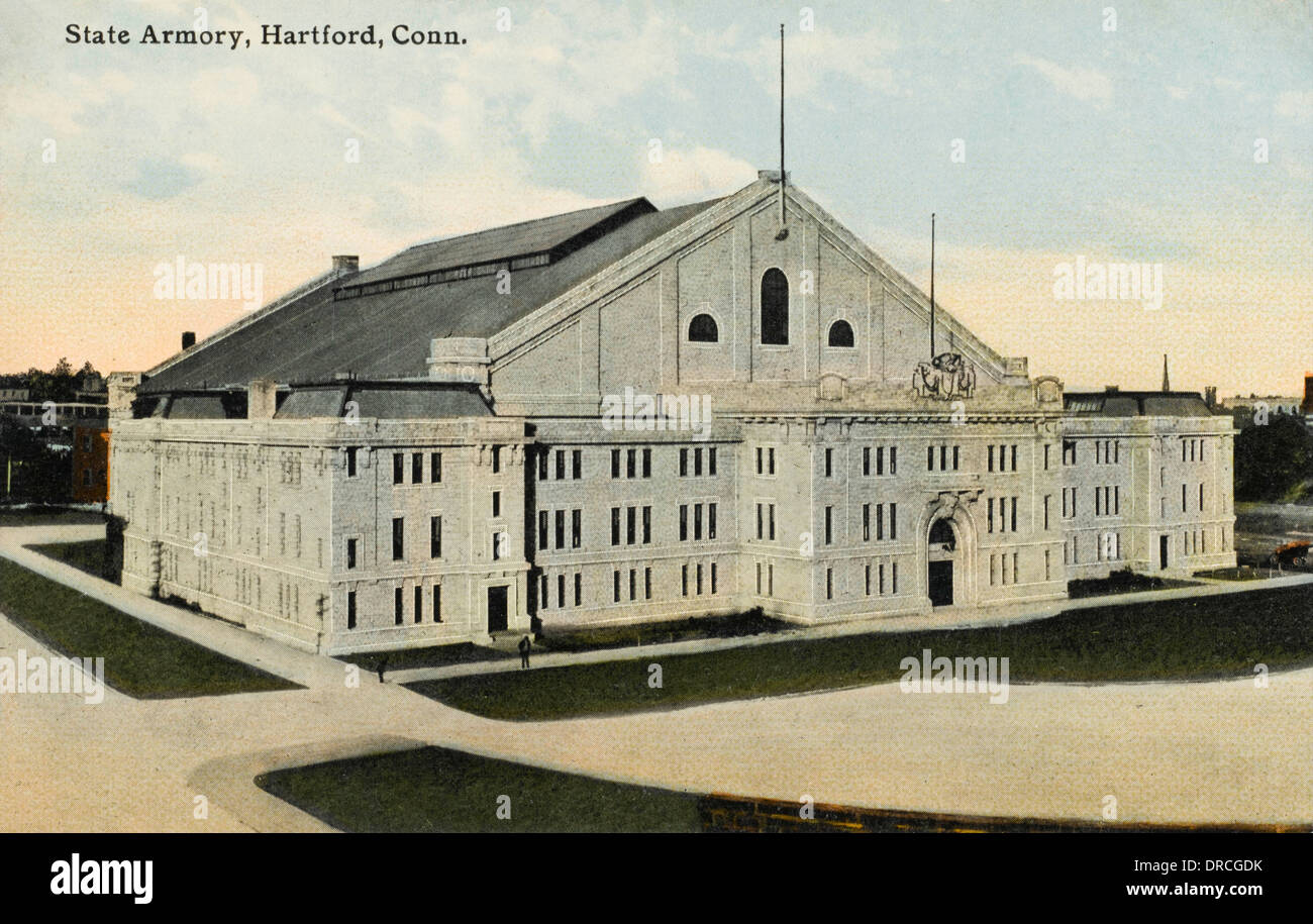 The State Armoury at Hartford, Connecticut - Stock Image