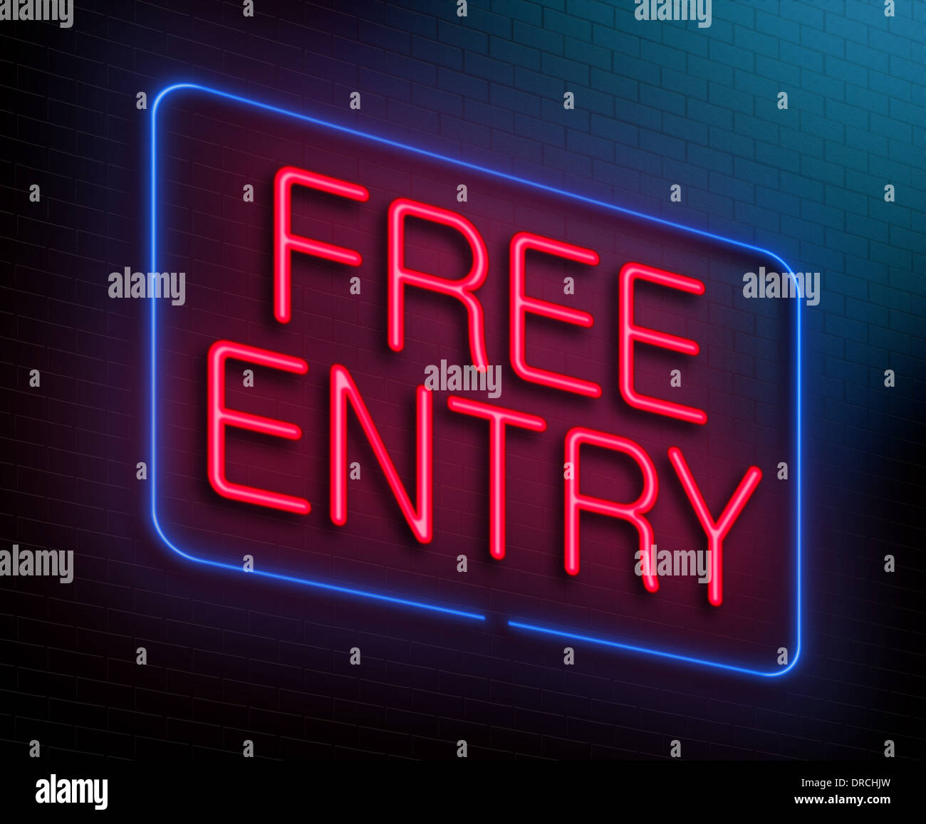 Free entry concept. - Stock Image