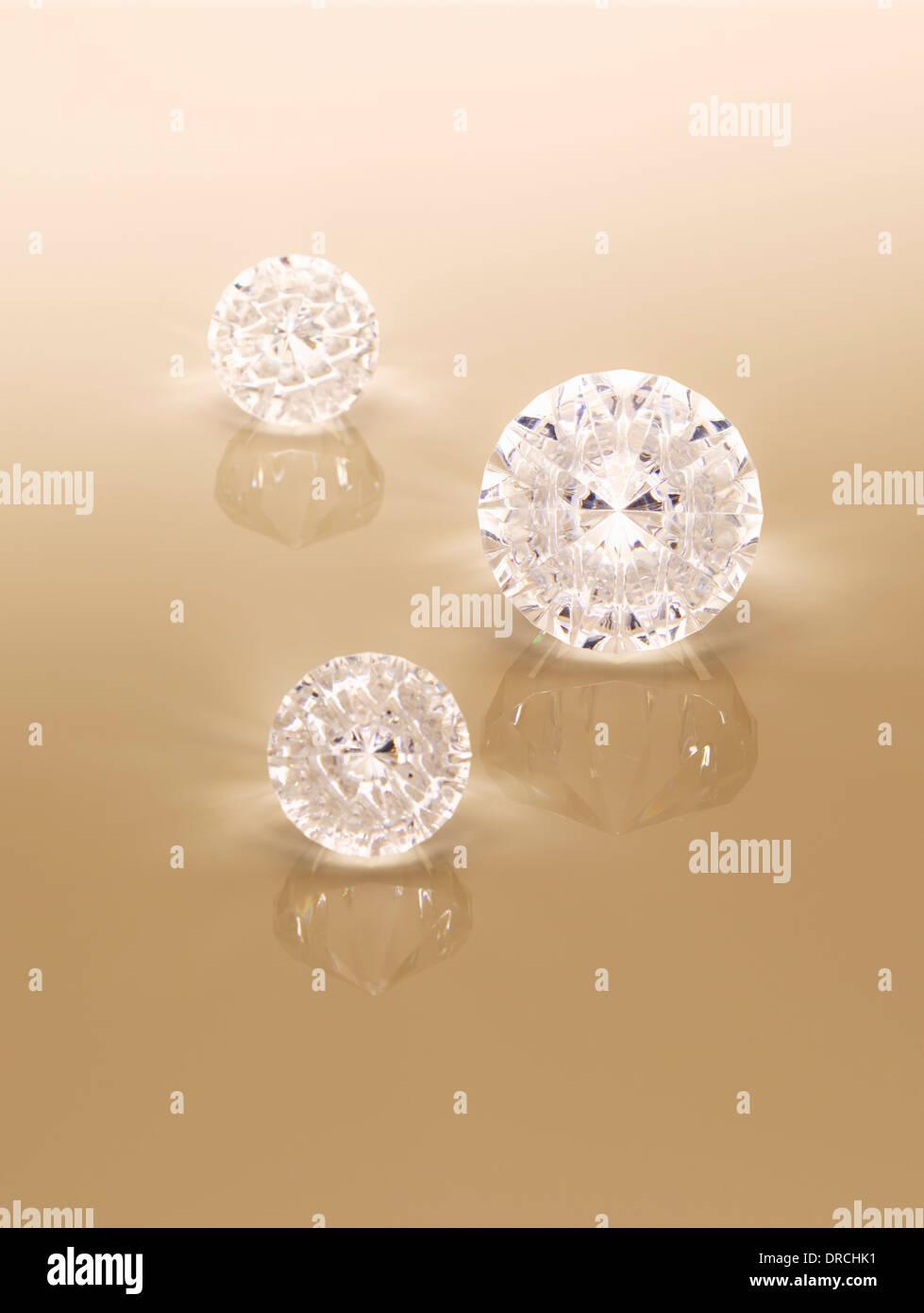 Close up of diamonds - Stock Image