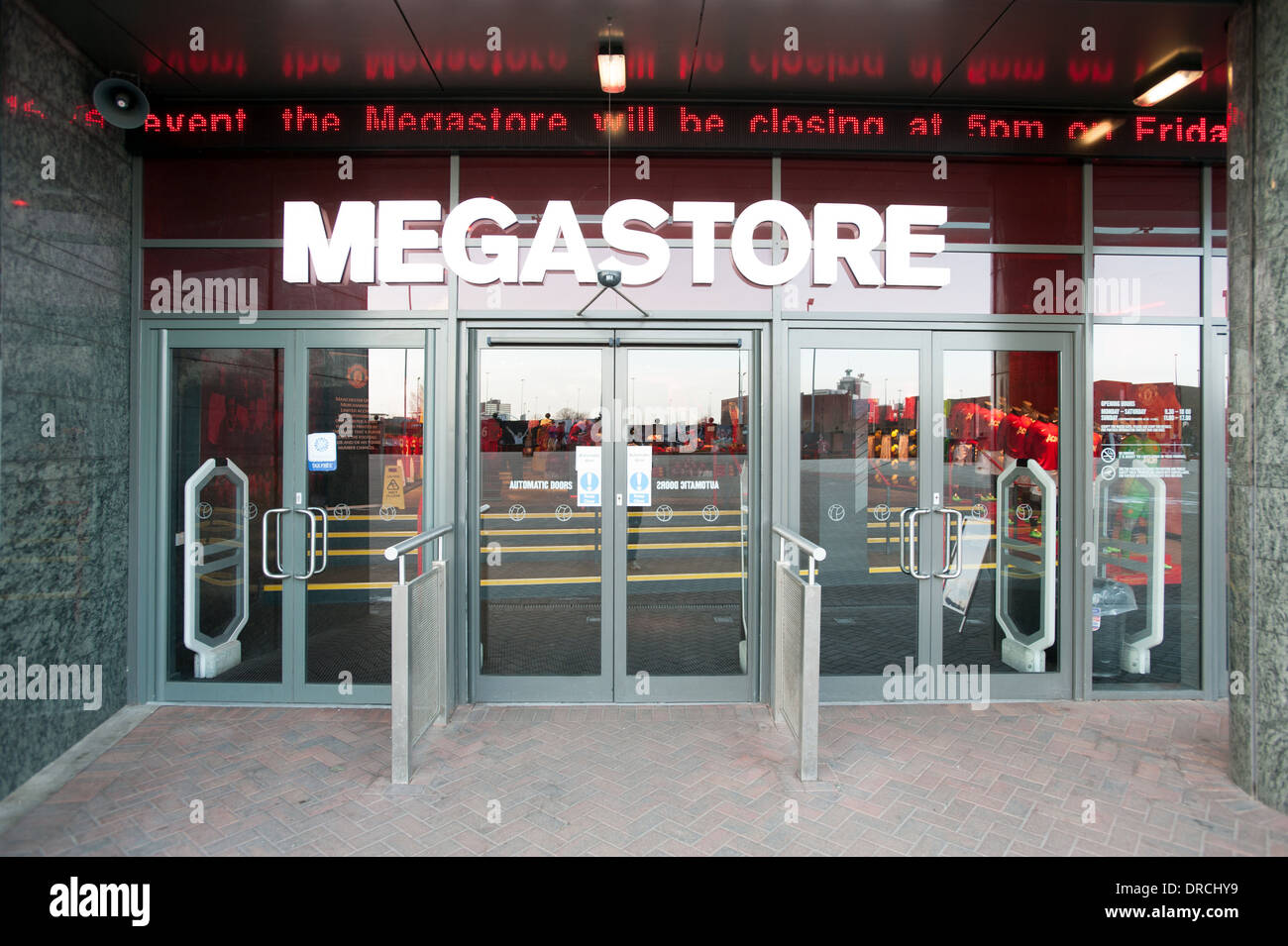 02fdc991622 Megastore. Old Trafford. Manchester United Stock Photo  66045709 - Alamy