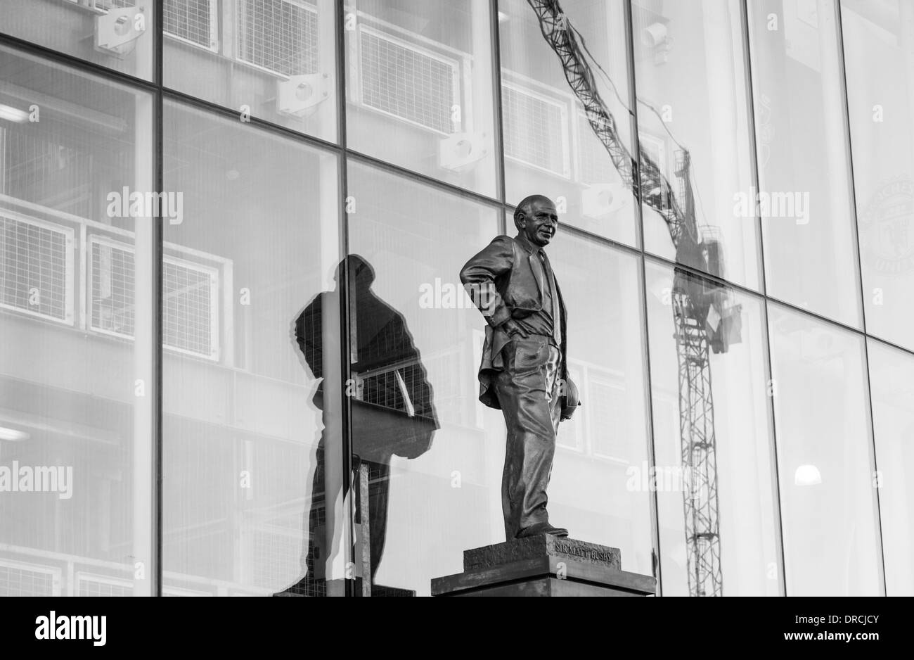 Sir Matt Busby. Old Trafford. - Stock Image