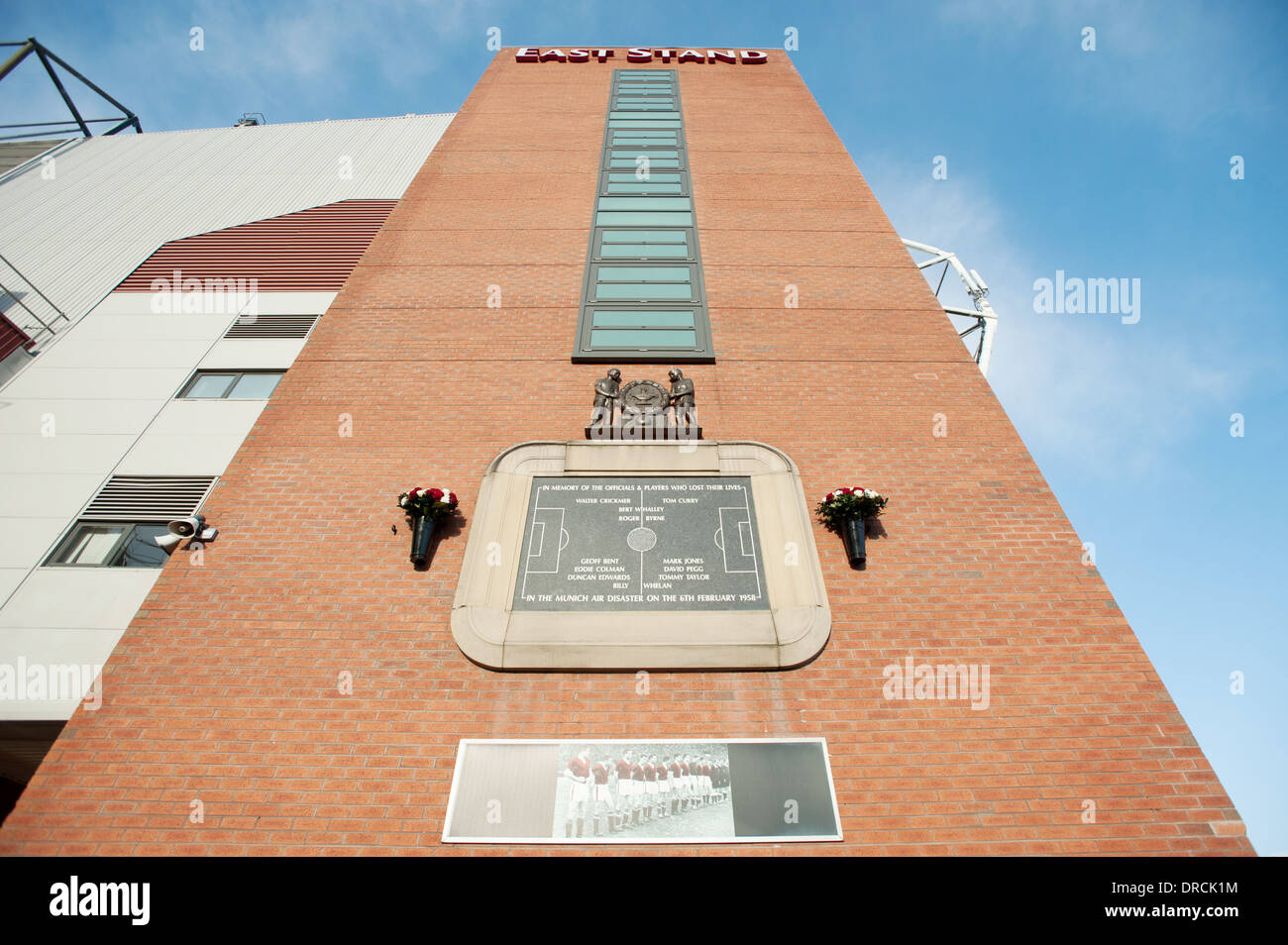 Munich Air Disaster Memorial Plaque - Stock Image