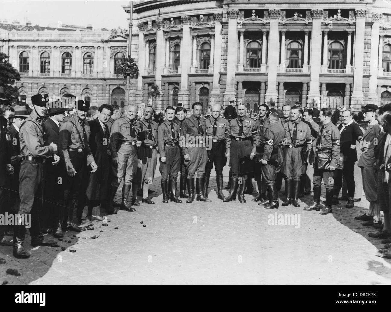 'Nazi' councillors of Vienna - Anschluss - Stock Image