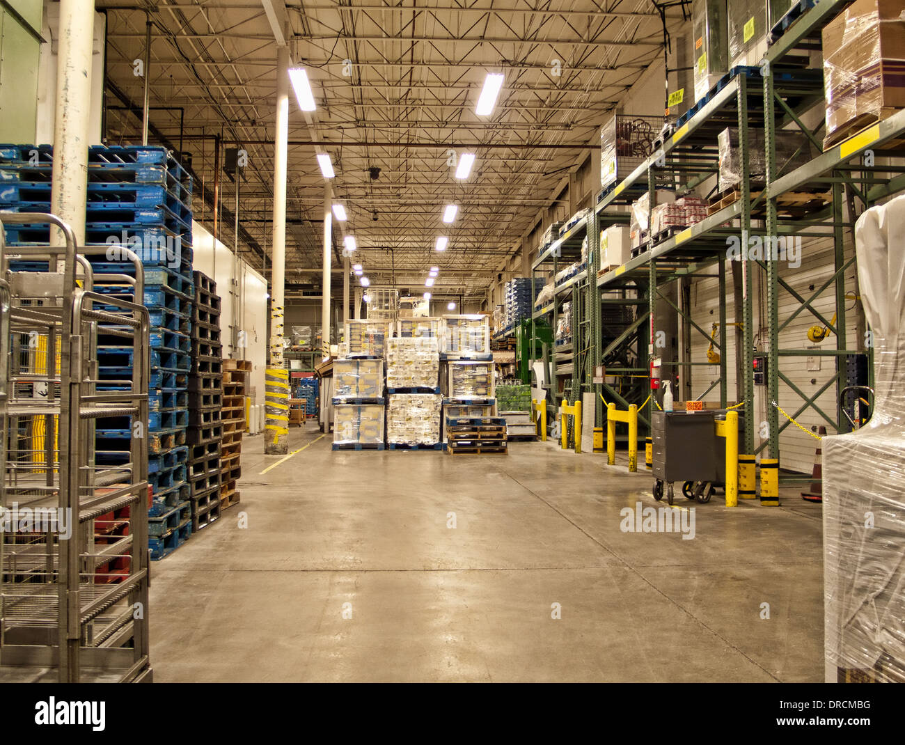 warehouse of a grocery store - Stock Image