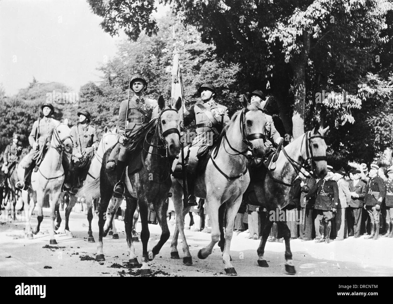 French cavalry WWII - Stock Image