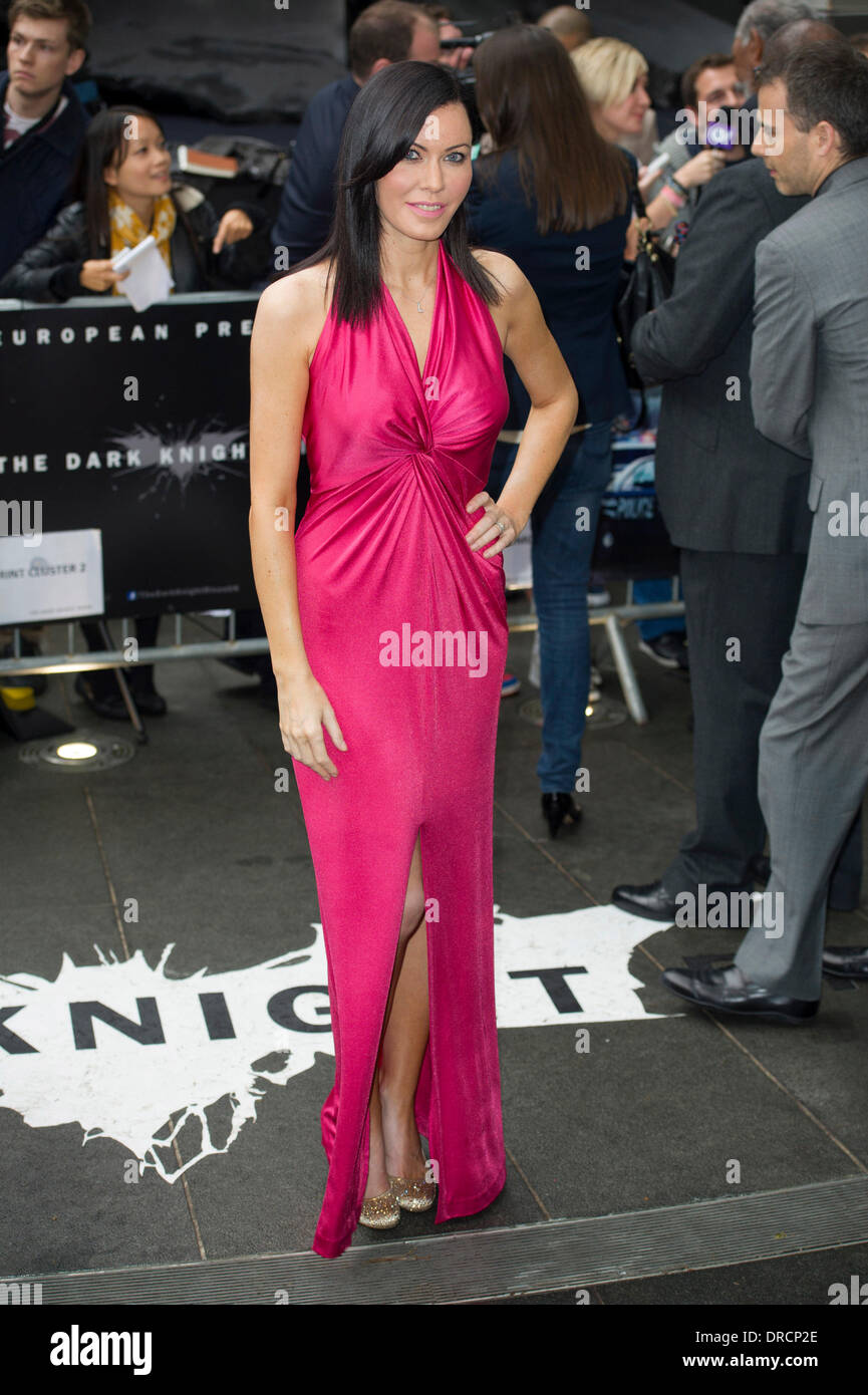 Linzi Stoppard The U.K. premiere of 'The Dark Knight Rises' held at the Odeon West End - Arrivals London, England - 18.07.12 - Stock Image