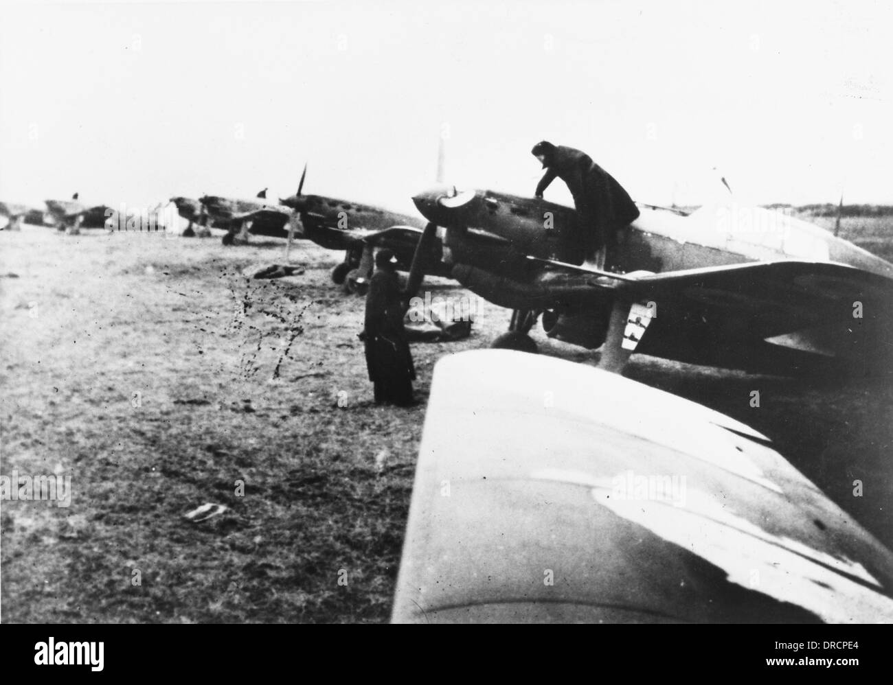 French fighter planes WWII - Stock Image