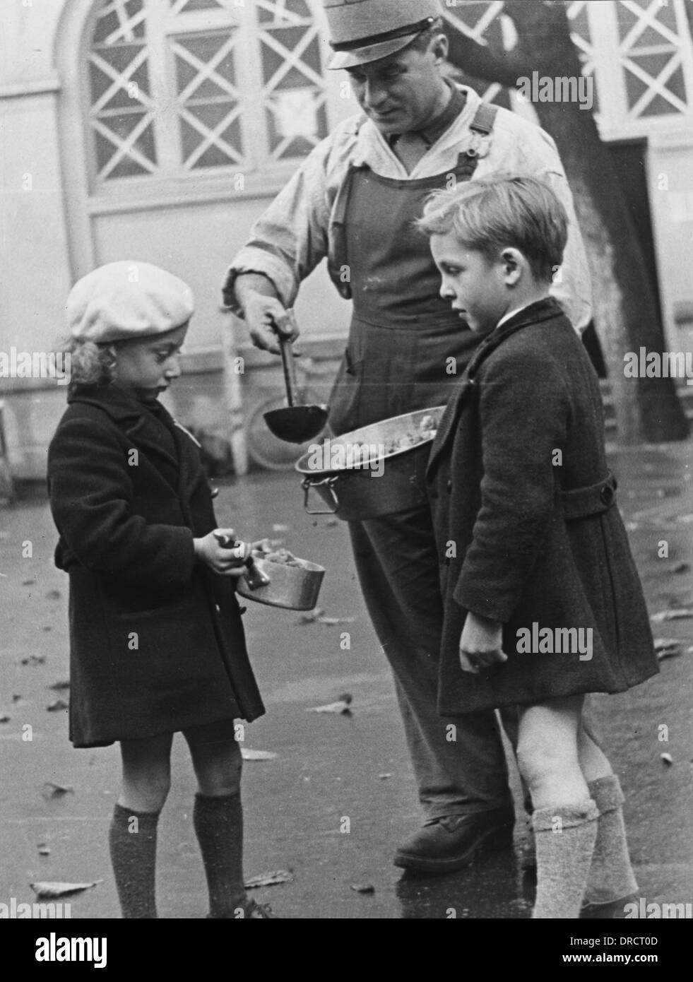 French civilians WWII - Stock Image