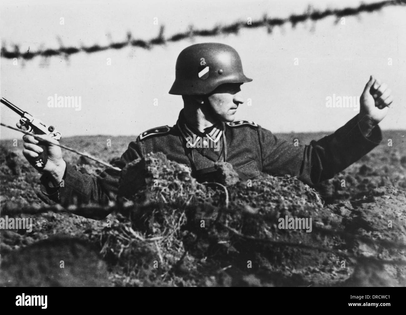 German soldier WWII - Stock Image