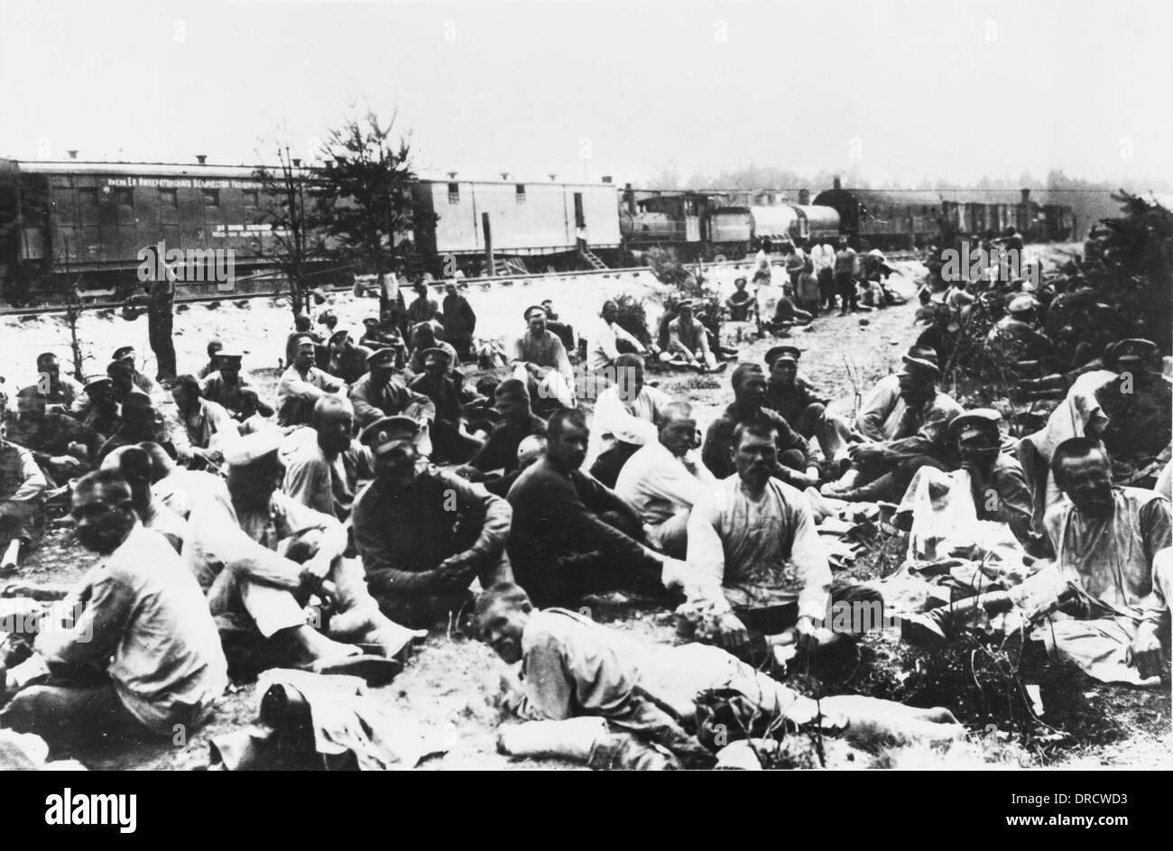 World War One Russian bath train - Stock Image