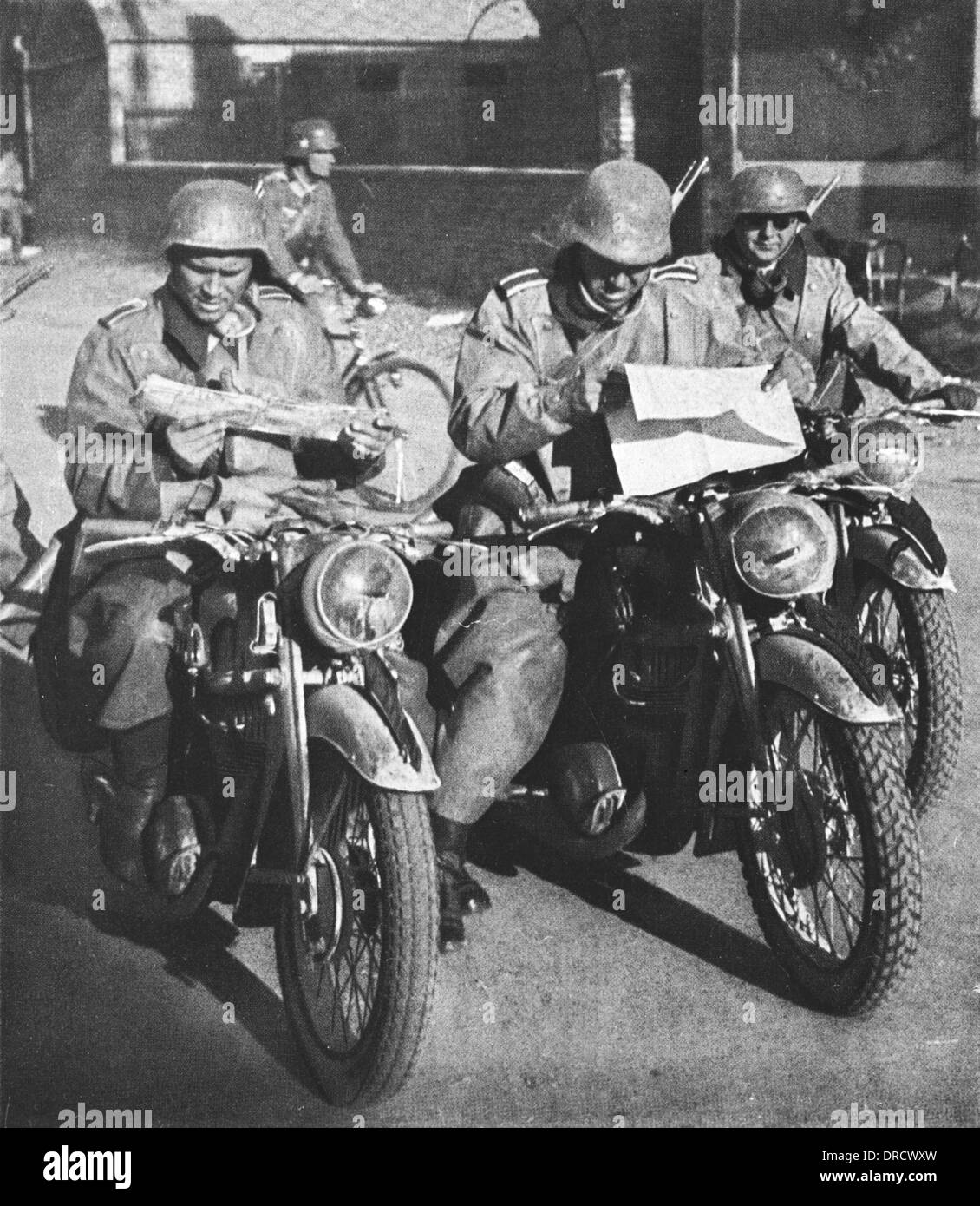 German Reconnaissance patrol WWII - Stock Image