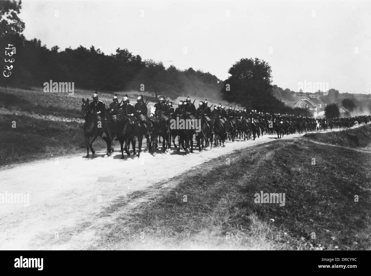 French cavalry WWI Stock Photo