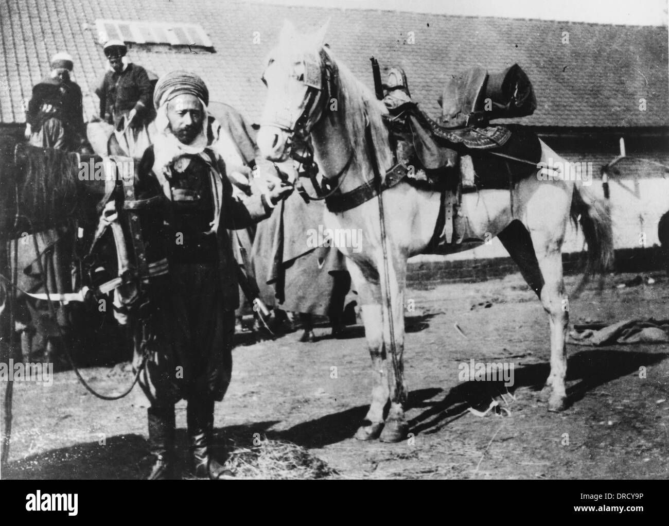 French Algerian trooper WWI - Stock Image