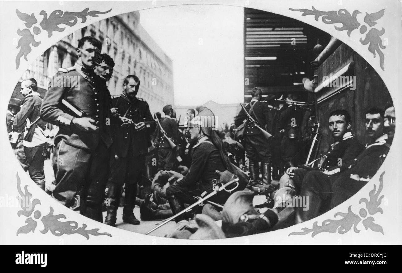 French mobilisation WWI - Stock Image