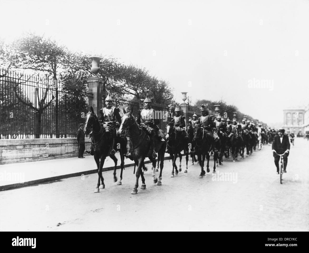 French cavalry WWI - Stock Image