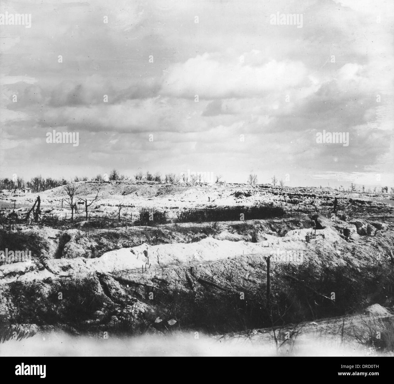 Hill 60 WWI - Stock Image