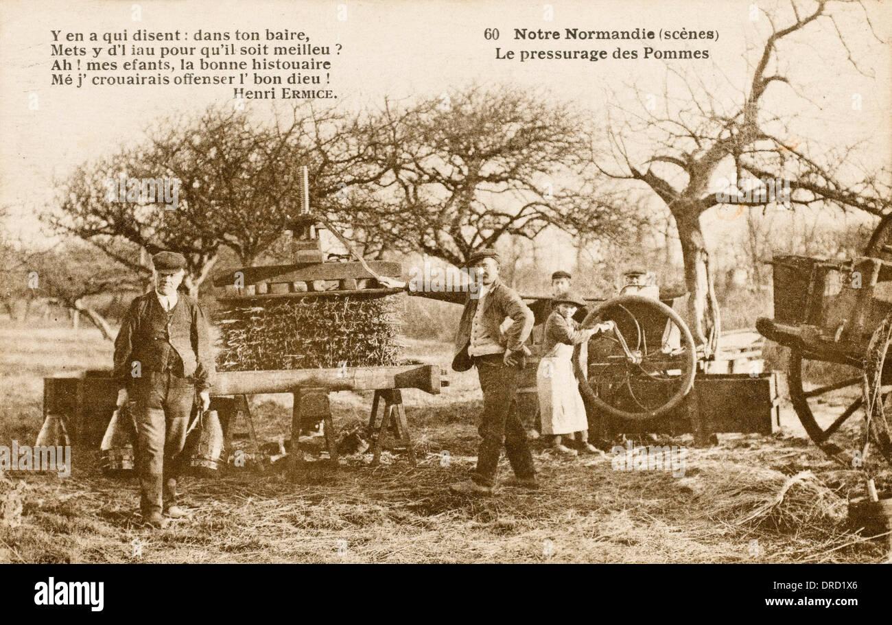 Cider Press - Normandy - Stock Image