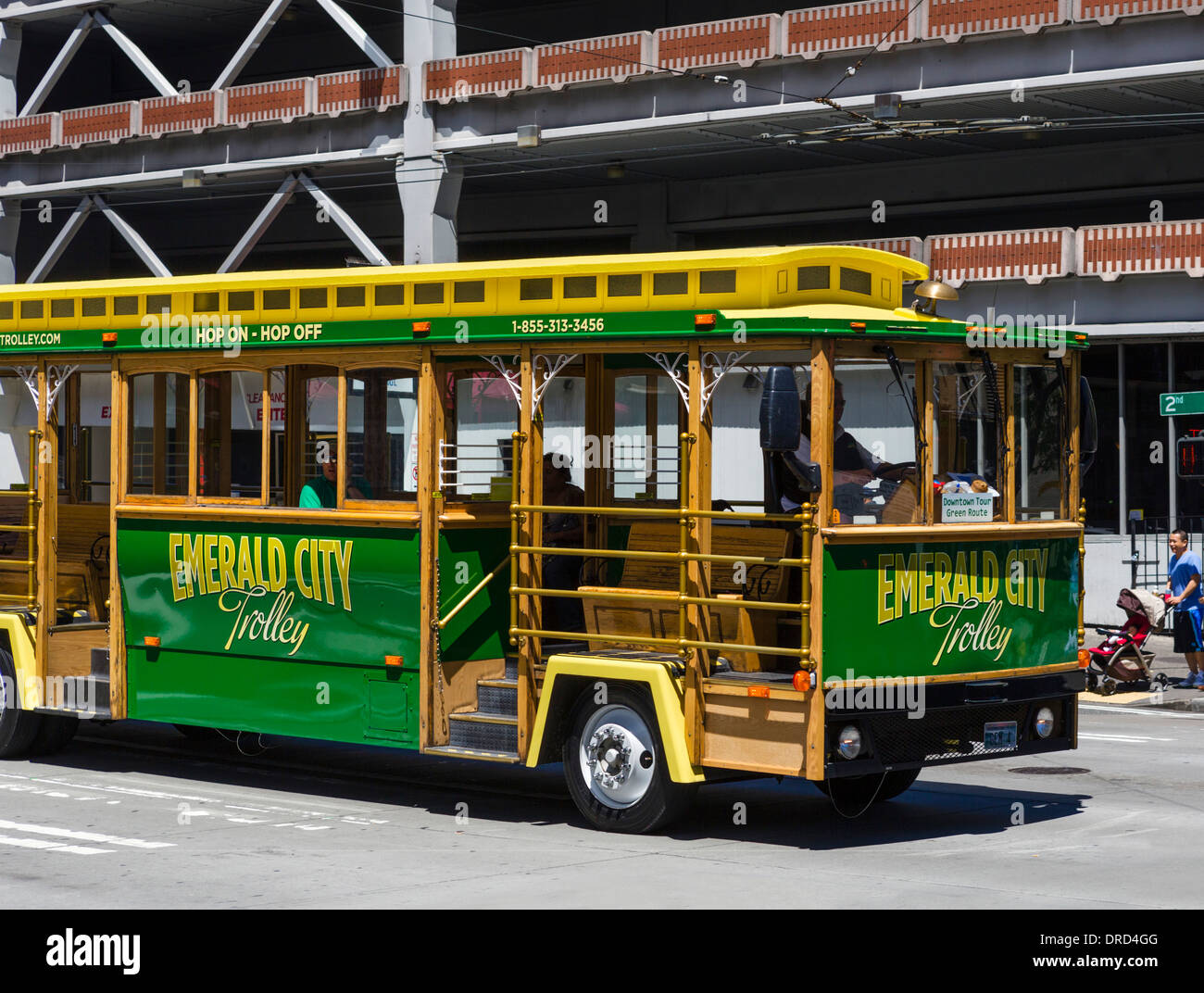 Emerald City Trolley in downtown Seattle, Washington, USA - Stock Image