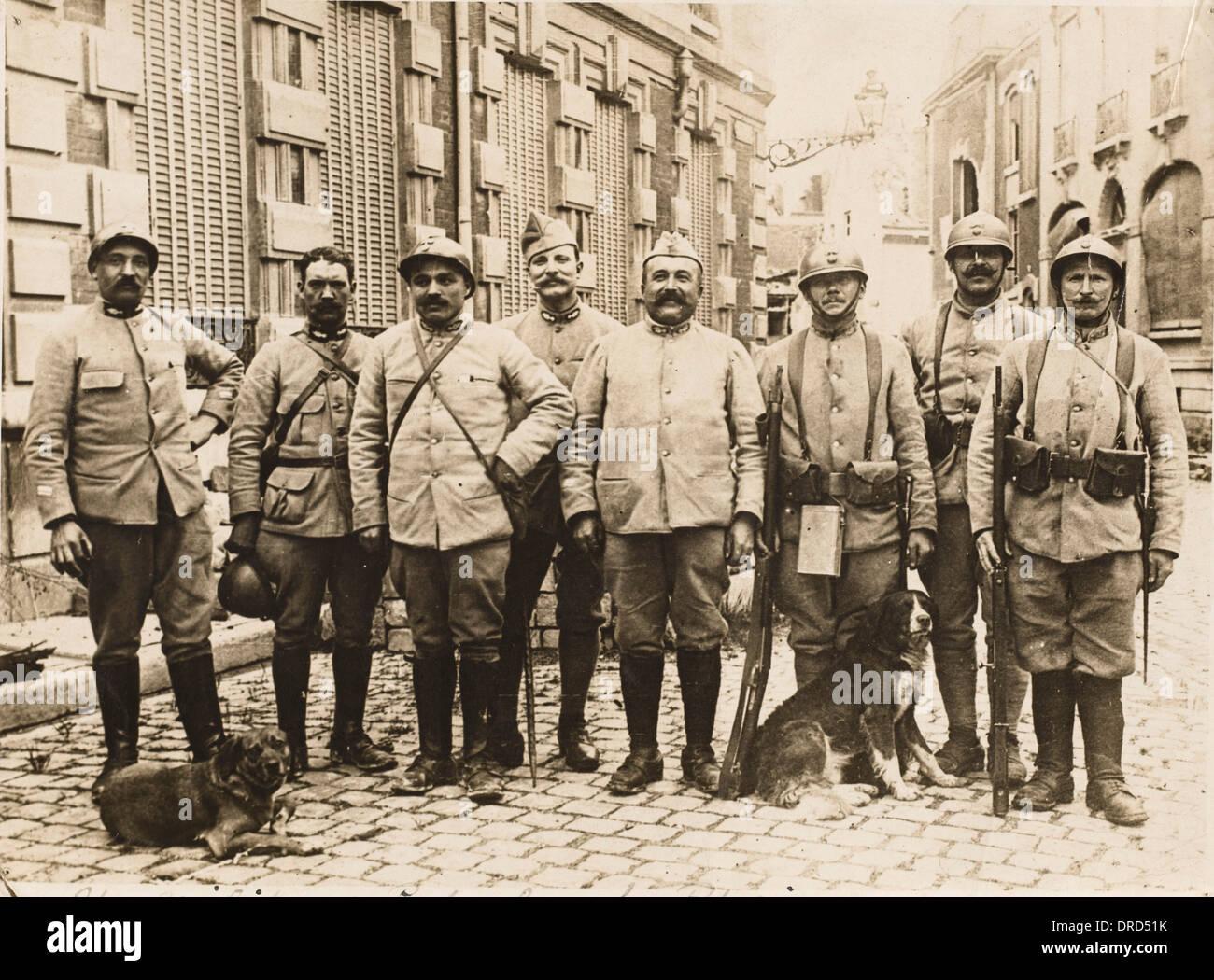 French patrol WWI - Stock Image