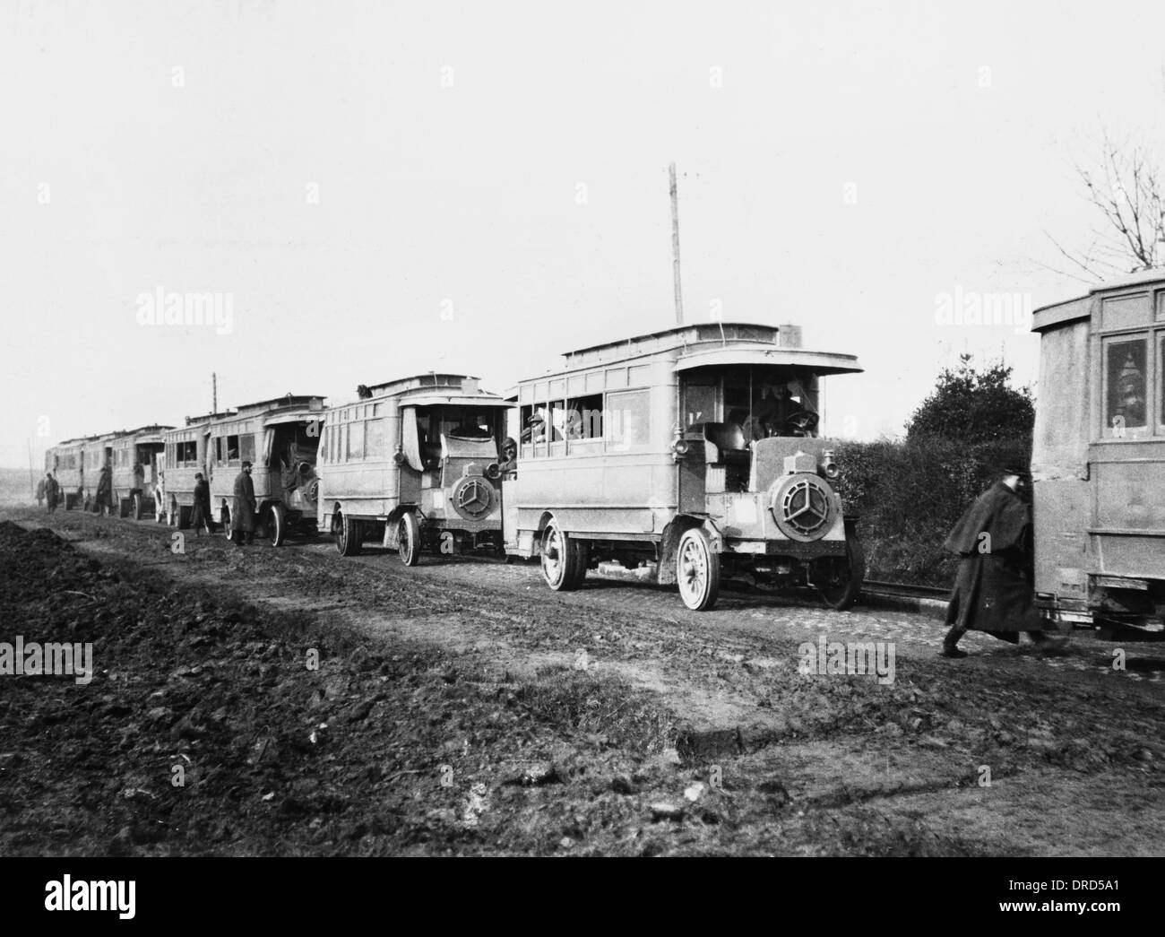 French troop transport WWI - Stock Image