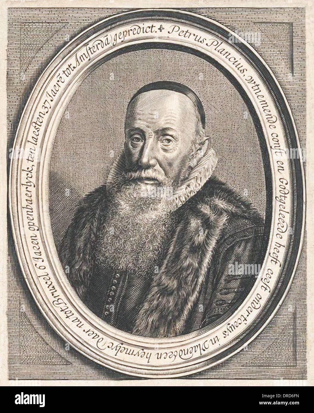 Petrus Plancius (1552-1622) Dutch astronomer, cartographer and mathematician. Founder and mapmaker for Dutch East India Company. - Stock Image