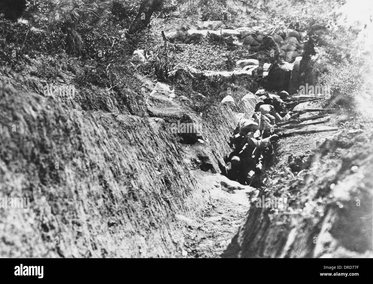 Turkish Trenches WWI - Stock Image