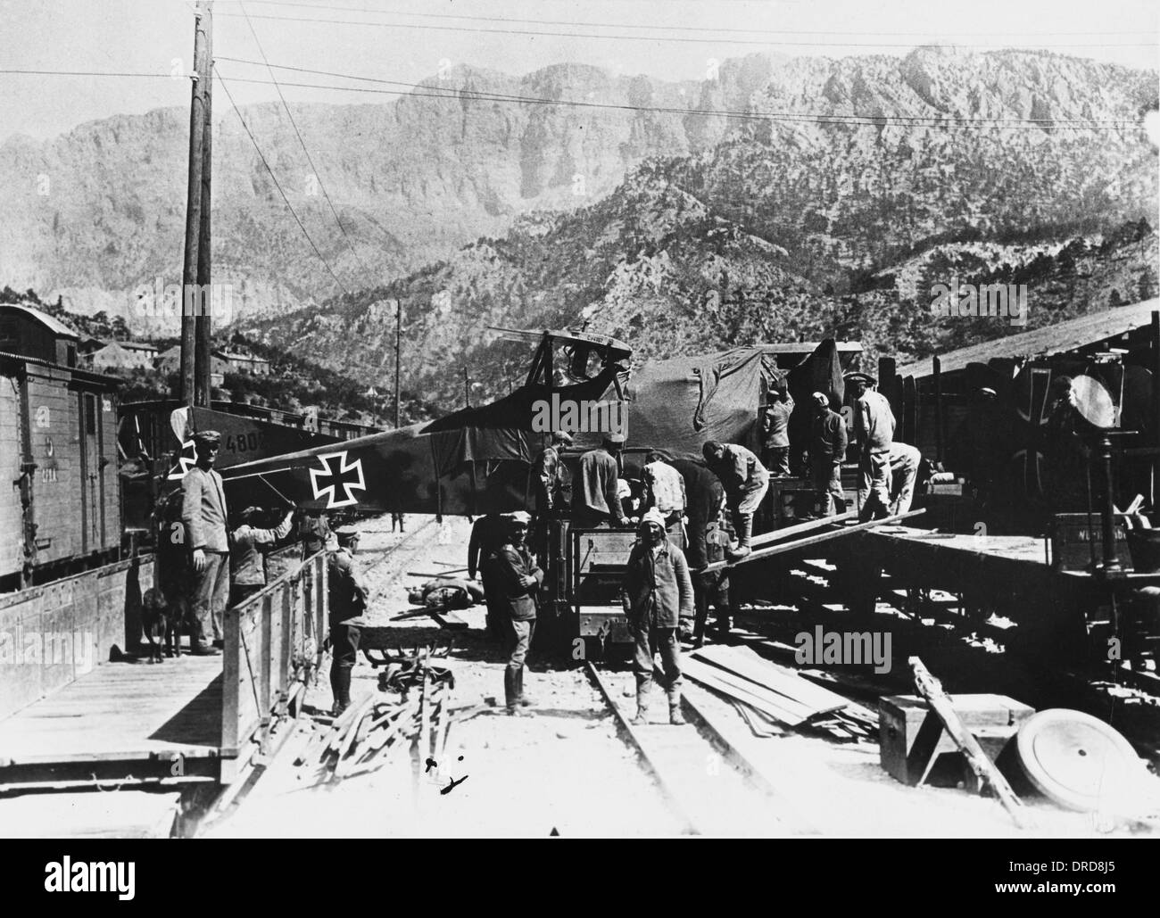 Military Transport in Turkey WWI - Stock Image