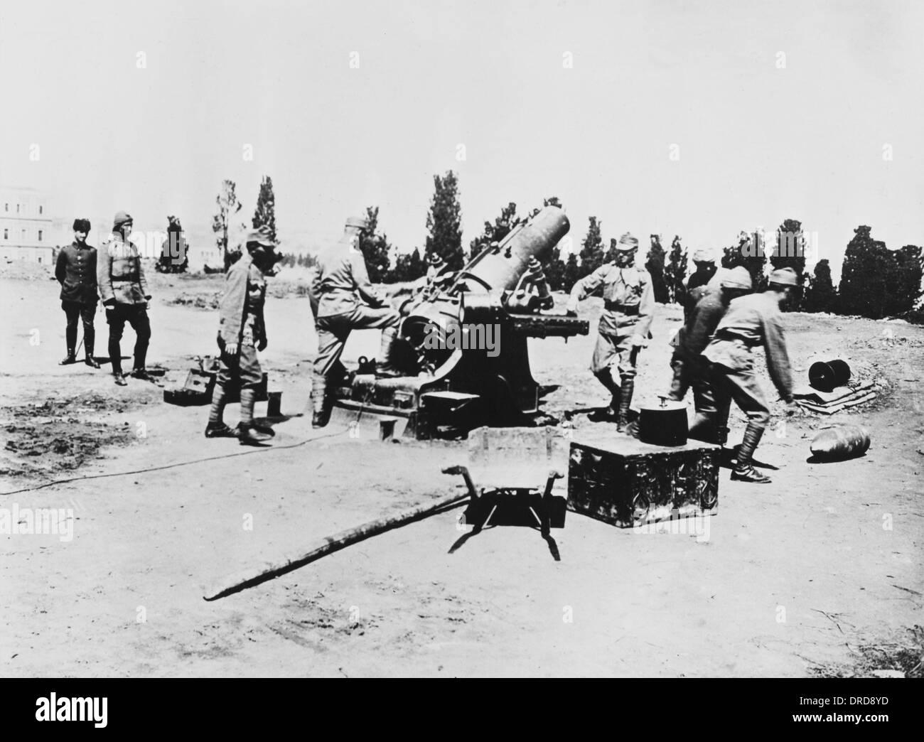 WWI Artillery - Stock Image