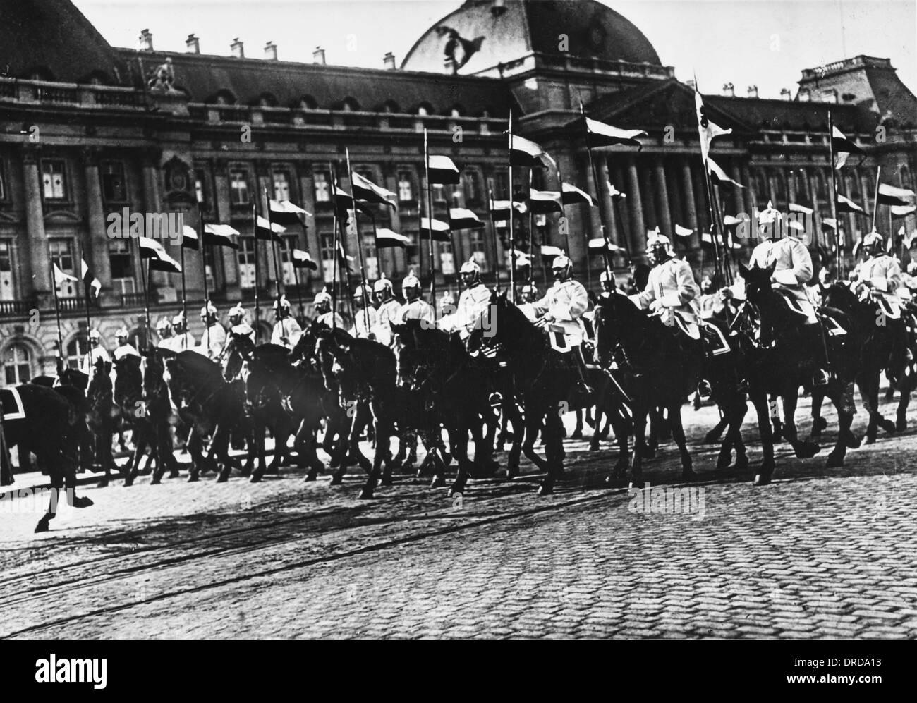 German Cuirassiers WWI Stock Photo
