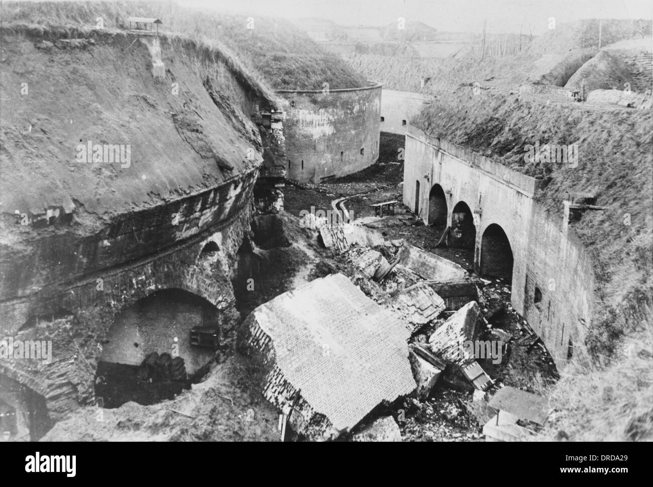 Destroyed fortifications WWI - Stock Image