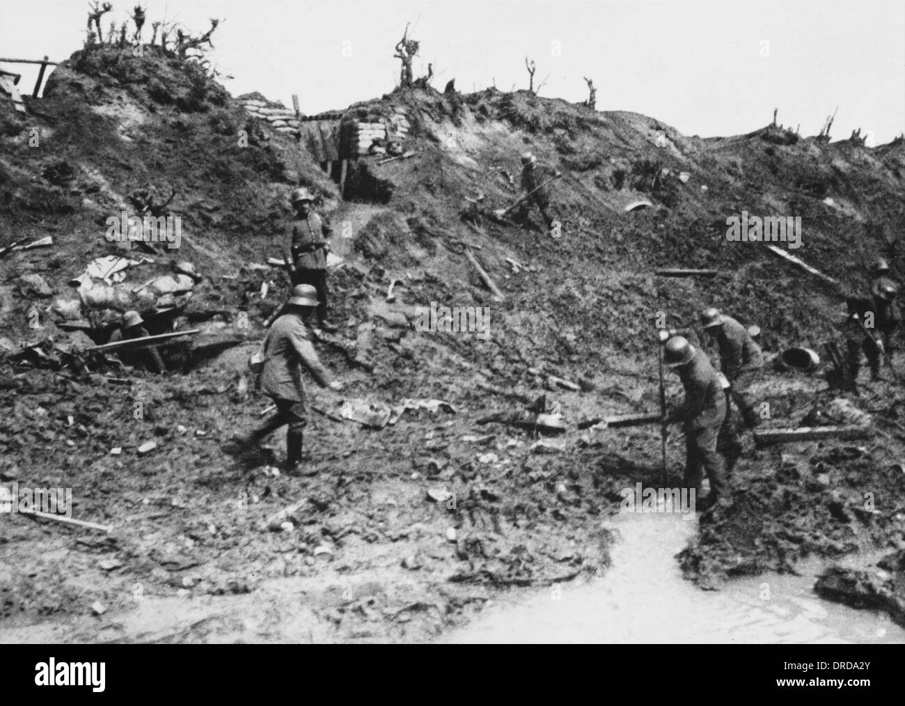 Second Battle of Ypres WWI Stock Photo