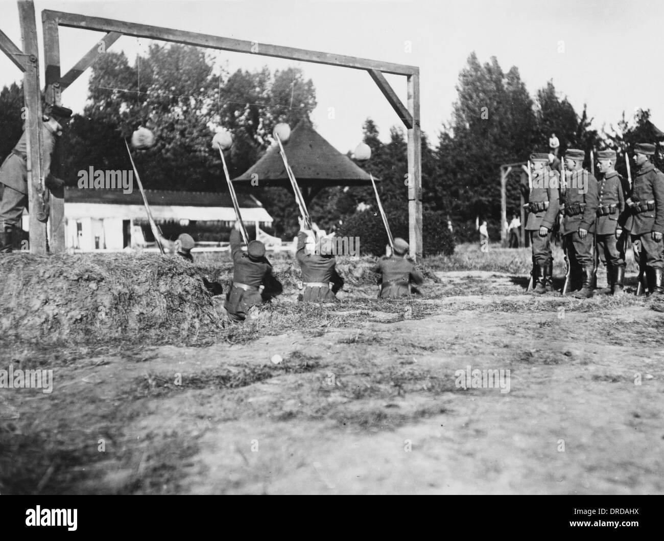 German troop training WWI - Stock Image